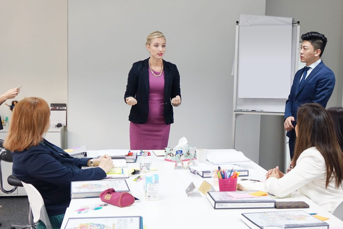 Image Consultant course on communication presentation body language with Lynne Marks 5