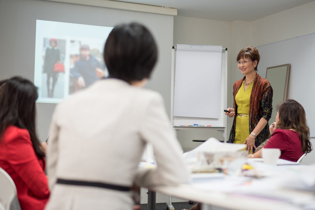 Image Consultant Training on Colour, Bodyline, Wardrobe with Christina Ong - in class