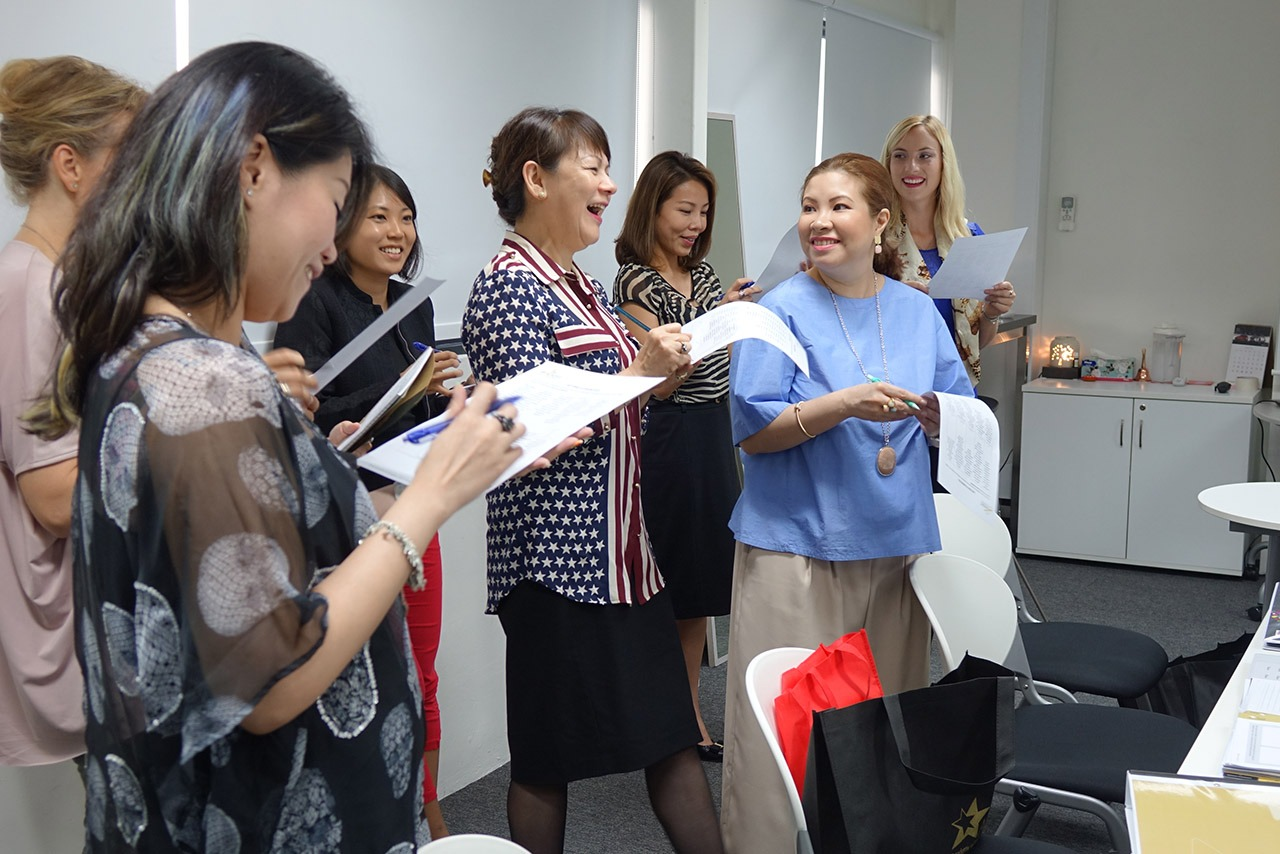 Image Consultant course on Colour, Bodyline, Wardrobe with Christina Ong - training
