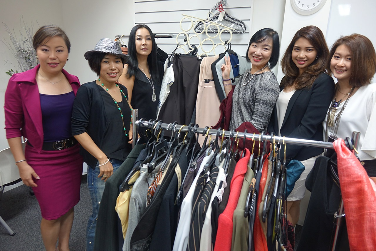 Image Consultant course on Colour, Bodyline, Wardrobe with Christina Ong - mix and match clothes