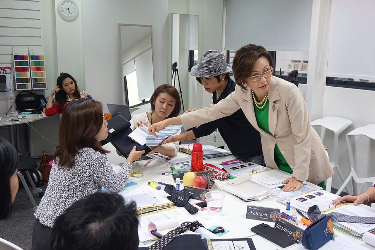 Image Consultant course on Colour, Bodyline, Wardrobe with Christina Ong - learning menswear