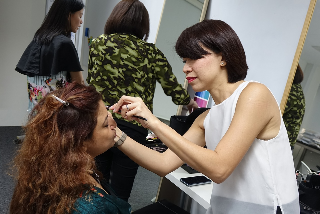 Image Consultant course on Colour, Bodyline, Wardrobe with Christina Ong - makeup