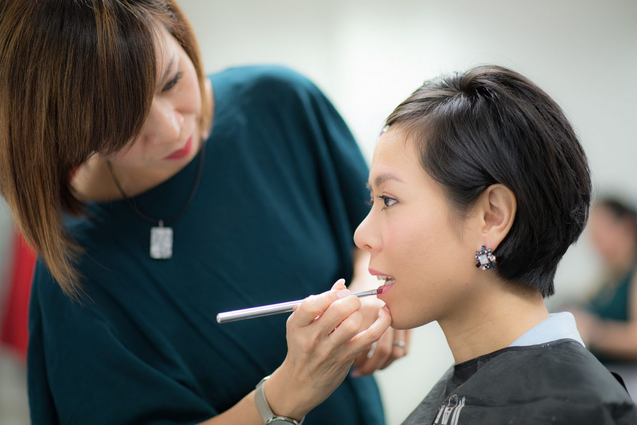 Image Consultant course on Colour, Bodyline, Wardrobe with Christina Ong - makeup 2